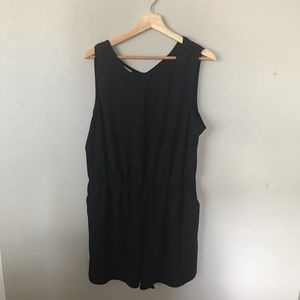A New Day Black Cut-Out Romper